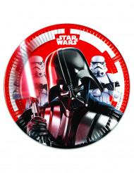 8 Pequenos pratos de cartão Star Wars Final Battle™