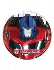 8 Pratos pequenos de cartão Transformers RID™