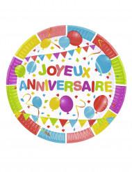6 Pratos Balões de aniversário