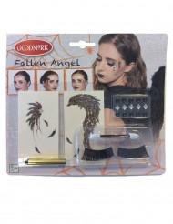Kit de maquilhagem anjo preto mulher