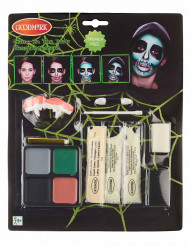 Kit de maquilhagem fosforescente adulto Halloween