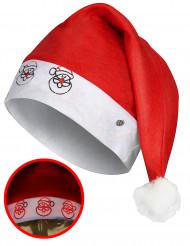 Chapéu Pai Natal luminoso adulto Natal