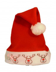 Chapéu rena luminoso adulto Natal