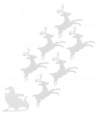 6 Renas de feltro branco Natal