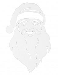 Decoração para janela rosto do Pai Natal