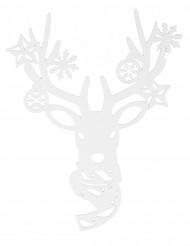Decoração para janela rena Natal