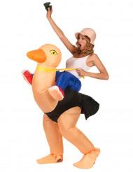 Disfarce avestruz insuflável adulto