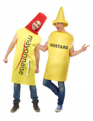 Disfarce de casal maionese e mustarda