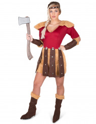 Disfarce Viking aos dragões mulher