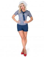 Disfarce de marinheira mulher