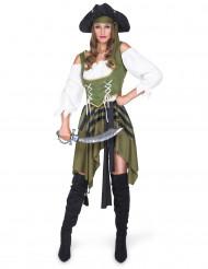 Disfarce Pirata flibusteira mulher