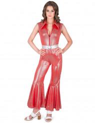 Disfarce macacão disco vermelho mulher