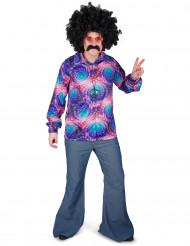 Camisa hippie psicodélica homem