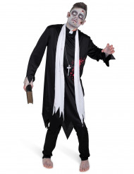 Disfarce padre zombie para homem