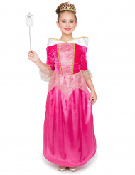 Disfarce princesa fada cor-de-rosa menina