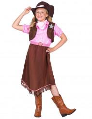 Disfarce xerife menina