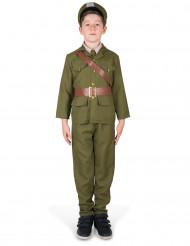 Disfarce oficial do exército menino