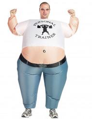 Disfarce insuflável fitness adulto