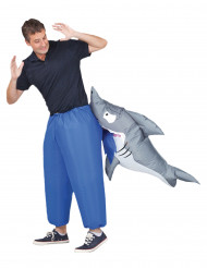 Disfarce insuflável tubarão adulto