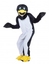 Mascote pinguim adulto