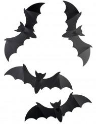 Lote de 12 decorações de parede morcegos