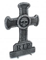 Decoração lápide cruz com caveira