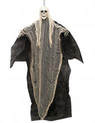 Decoração Senhor da morte branco e preto para pendurar Halloween