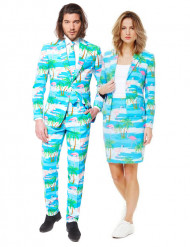 Disfarce de casal Opposuits™ Flamingo