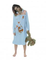 Disfarce zombie pijama mulher Halloween