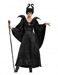 Disfarce bruxa maléfica preta mulher Halloween