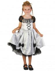 Disfarce noiva branca menina Halloween