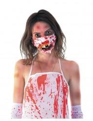 Máscara boca de zombie ensanguentado adulto Halloween