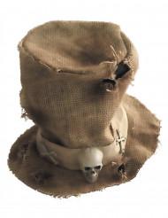Chapéu alto serapilheira equeleto adulto Halloween