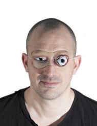 Máscarilha látex olho grosso adulto Halloween