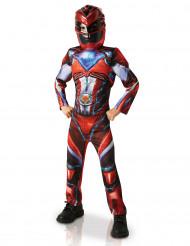 Disfarce luxo Power Rangers™ vermelho criança - Filme