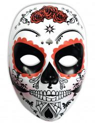 Máscara branca Dia de los muertos mulher