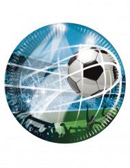 8 Pratos de cartão adeptos de Futebol