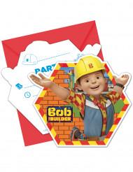 6 Convites com envelopes Bob o Construtor™