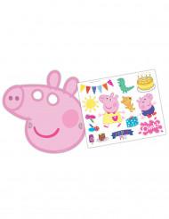 Conjunto 6 máscaras Peppa Pig™ e autocolantes