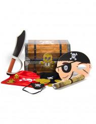 Baú do tesouro Pirata com acessórios
