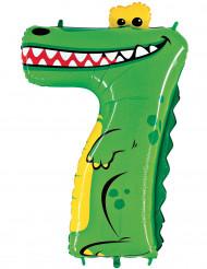 Balão alumínio número 7 crocodilo