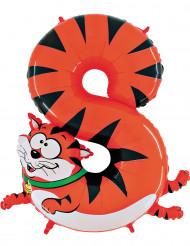 Balão alumínio número 8 gato