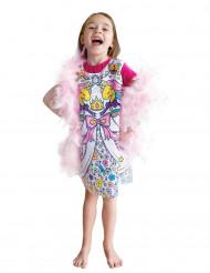 Vestido lavável à pintar princesa menina
