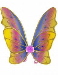 Asas borboleta com brilhantes menina