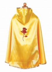 Capa de princesa vermelha e amarela menina