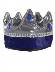 Coroa rei cavaleiro azul criança