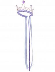 Coroa rainha medieval lilás menina