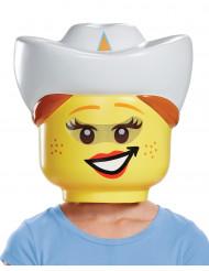 Máscara cowgirlLEGO® criança