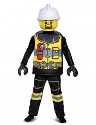 Disfarce luxo bombeiro LEGO® criança