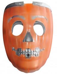 Máscara abóbora luminosa e lanterna adulto Halloween